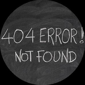 Zonder 404-pagina moet je zelf je weg zoeken