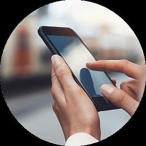 surfen op smartphone